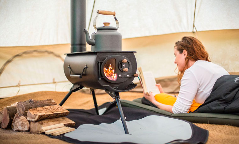 Frontier stove glamping accessories