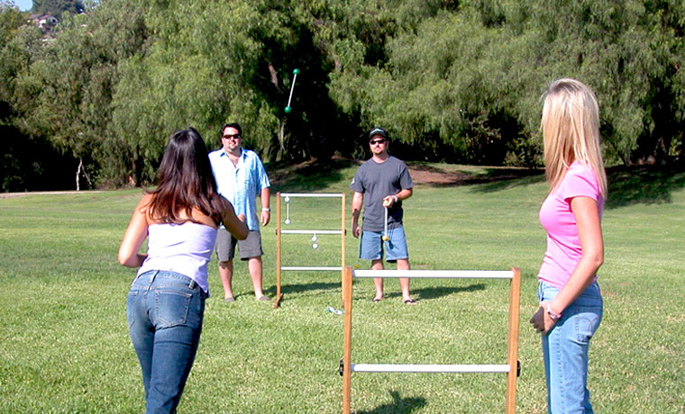 People Playing Ladder Toss
