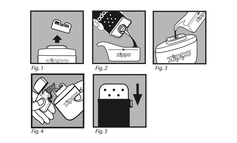 Instructions for Zippo hand warmer