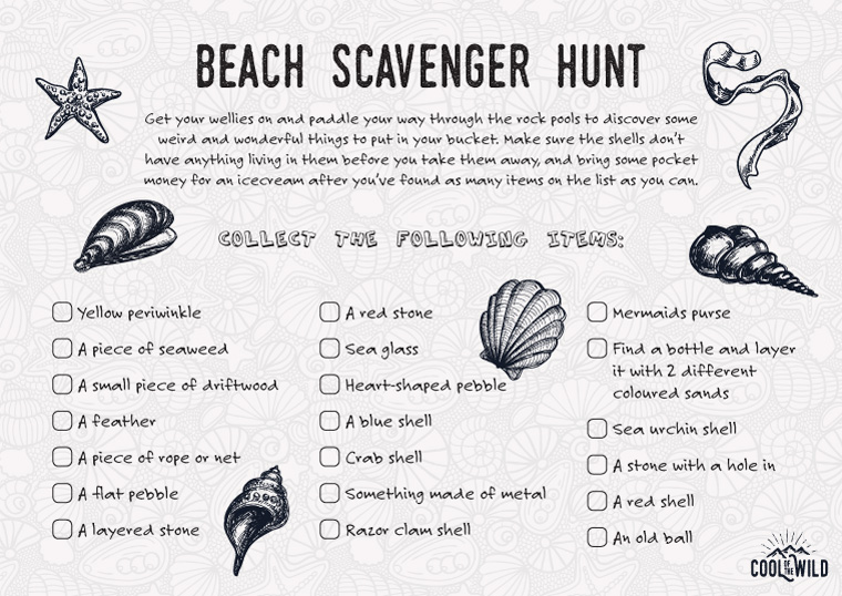 Printable Beach Scavenger Hunt Ideas