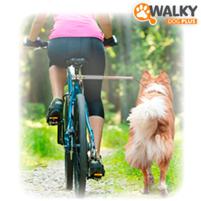 Hands free bike leash for dogs
