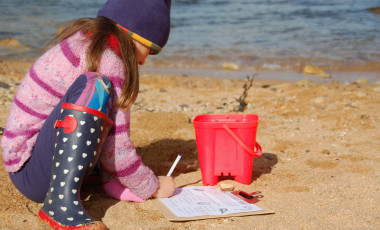 Kids scavenger hunt on the beach