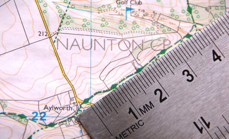 How to measure distance on a map with a ruler