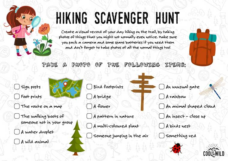 Scavenger Hunt Ideas To Get Your Kids Outside Cool Of The Wild