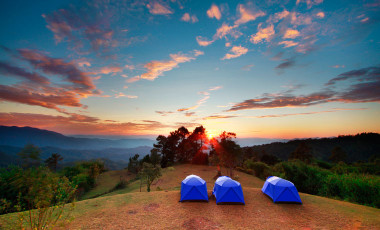 Camping at Sunset