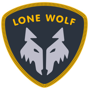 camping badge - lone wolf