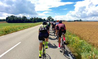 Road cycling group in Sweden