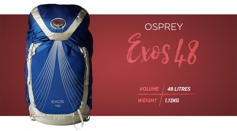 Osprey Packs Exos 48 backpacks for hiking