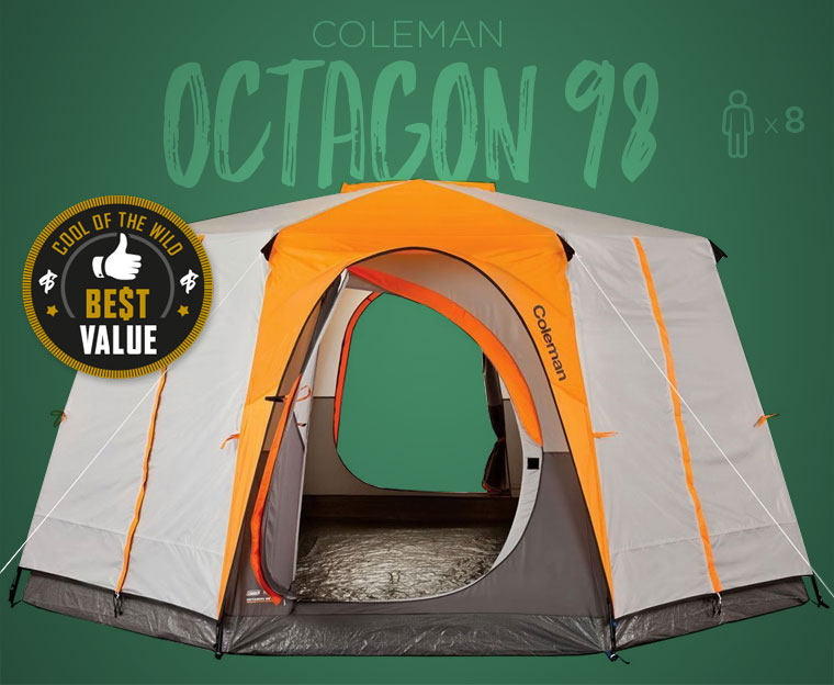 Coleman Octagon Family C&ing Tent & Best Family Camping Tents in 2018 - Cool of the Wild