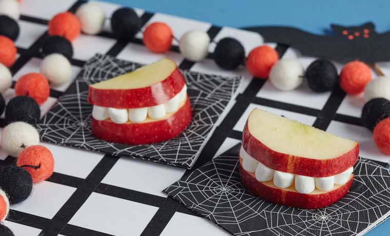 Halloween apple jaws
