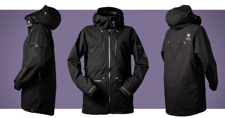 Open Wear powder jacket for snowboarding