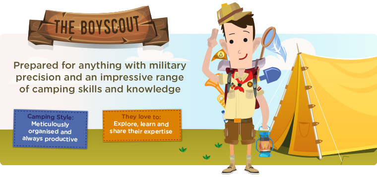 The Boy Scout camper cartoon