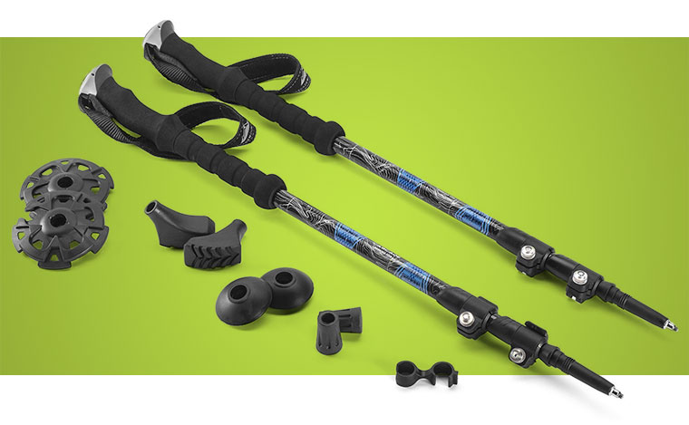 Cascade Mountain Tech 100% Carbon Fiber Quick Lock Trekking Poles