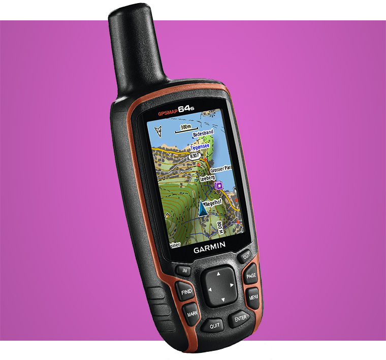 Garmin GPSMAP 64s With Worldwide Hiking GPS