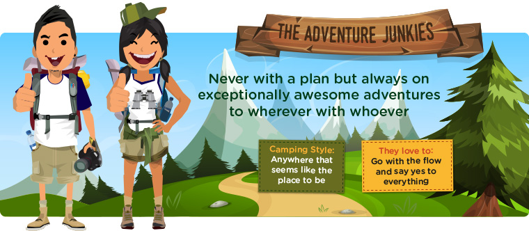 The Adventure junkies cartoon