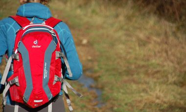 Hiking with Deuter bag
