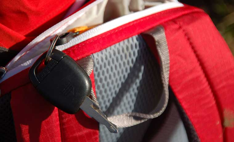 Top pocket of Speed Lite backpack