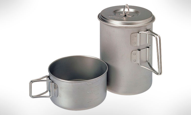 Snow Peak Titanium Mini Solo Cookset