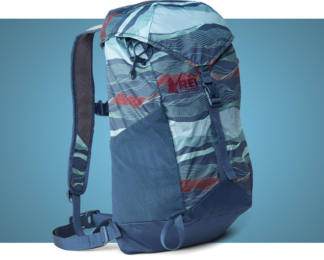 Blue REI Flash 22 sightseeing daypack