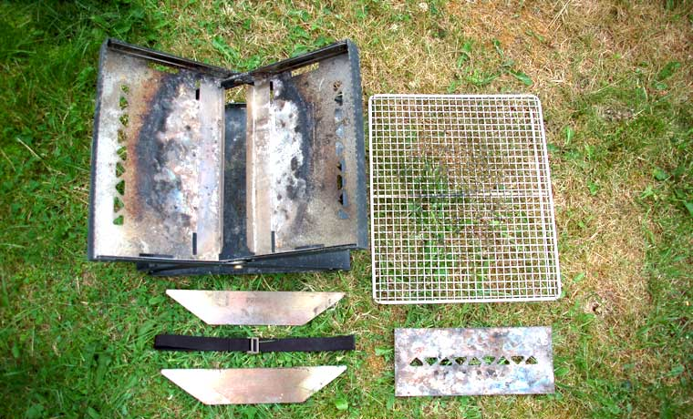 Components of fire pit