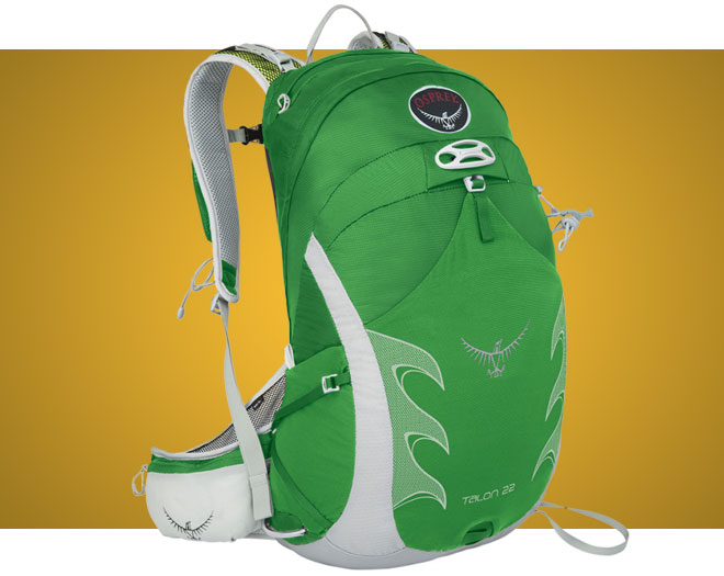 Green Osprey Talon 22 hiking daypack