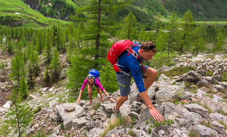 Hikers using the best daypacks for hiking