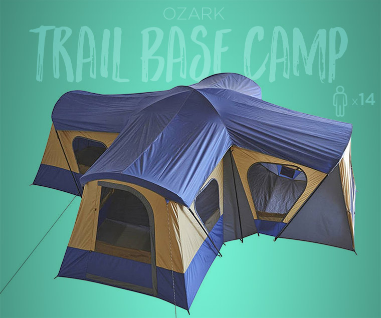4 room tents. Ozark Trail Base C& 14-Person Cabin Tent & 4 Multi Room Tents For Group Camping Luxury - Cool of the Wild