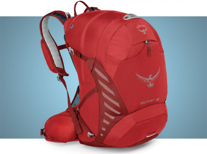 Red Osprey escapist 32 cycling daypack