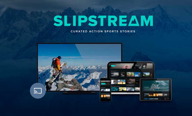 Slipstream website on various devices