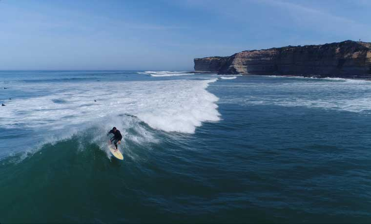Man surfing in Portugal
