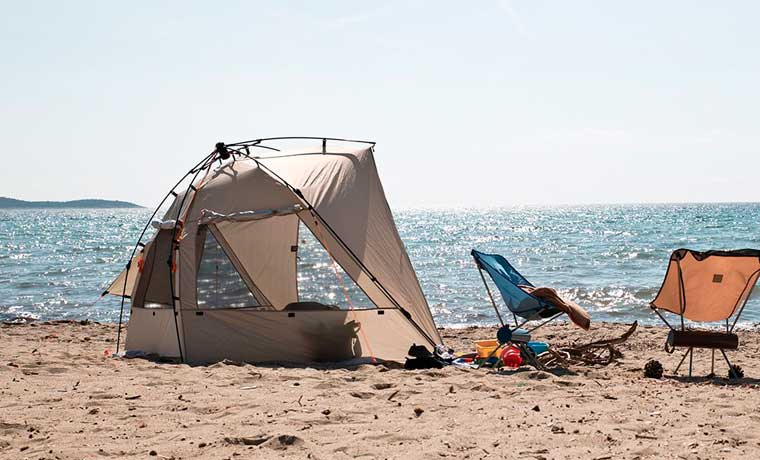 one of the best beach tents on the beach