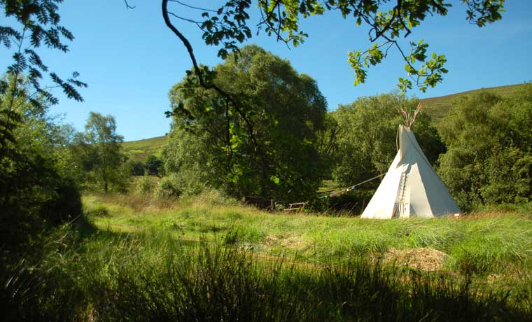 Tipi in grass