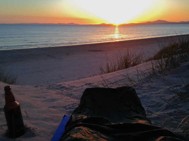 Beach camping in Wales