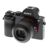 Sony A7 camera for backpacking