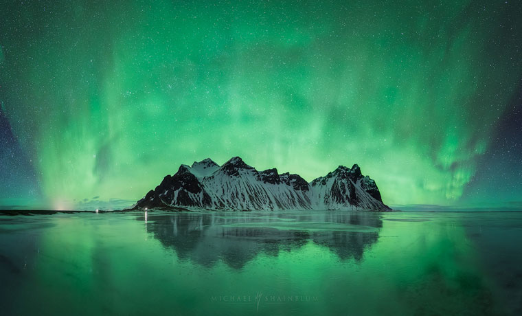 Photo of green northern lights