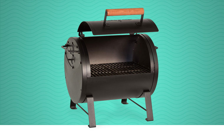 Char-Griller Table Top Charcoal Grill and Side Fire Box