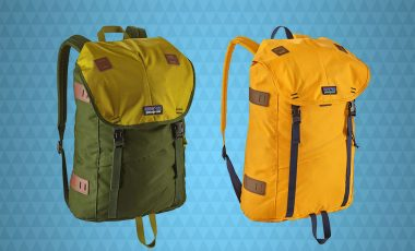 Green and yellow backpacks