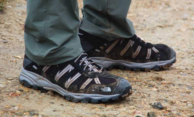 Man wearing hiking shoes