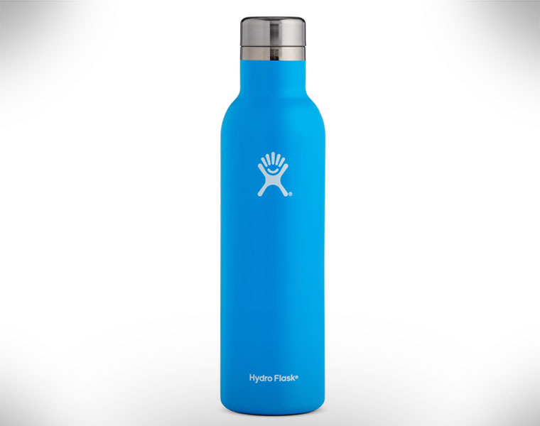 Wine flask blue