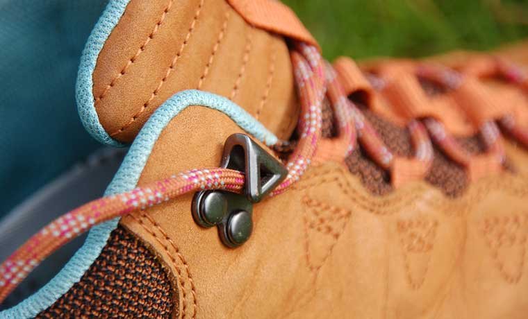 Eyelet of hiking boot