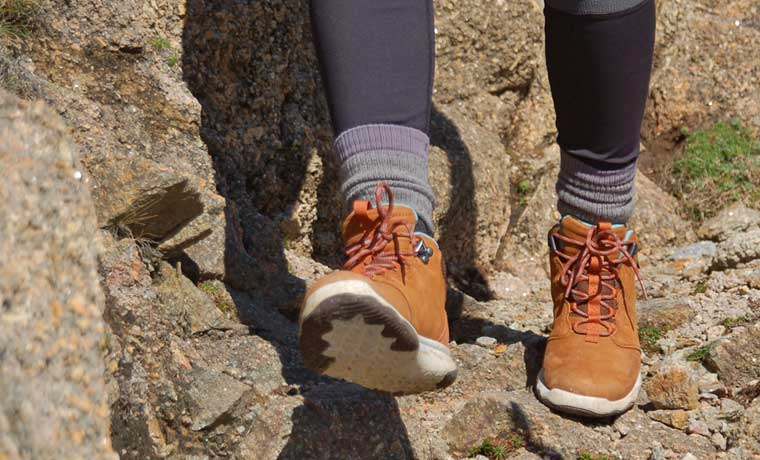 Hiking in Teva Arrowood Lux Mid Wp Boots