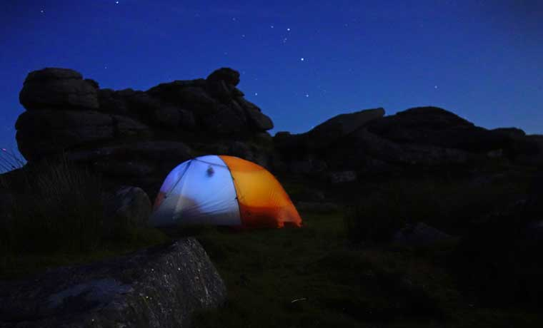 Wild Camping at night