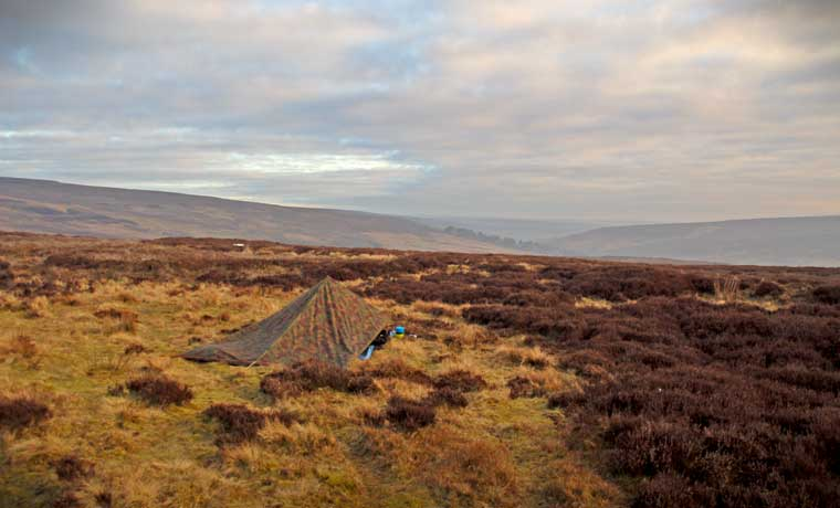 Wild camping on the moors