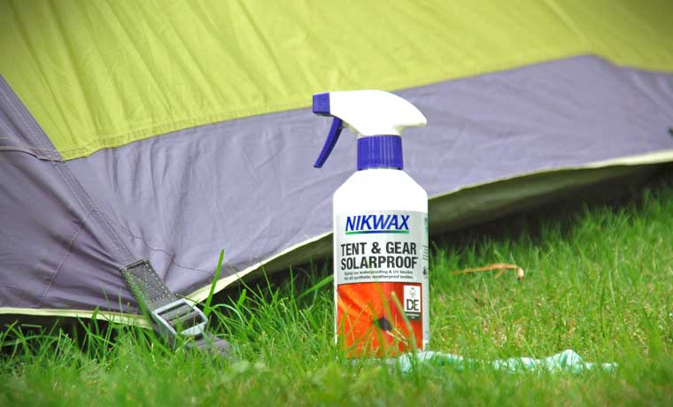 Tent waterproofing spray