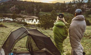 People in the best sleeping bags for camping