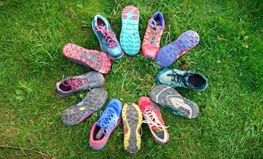 Circle of trail running shoes