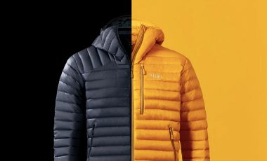 Rab jackets yellow and navy