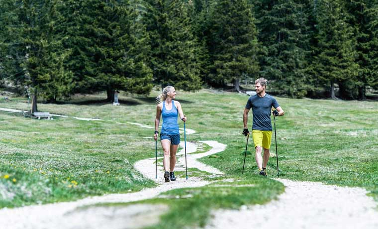 Nordic Walking on a trail