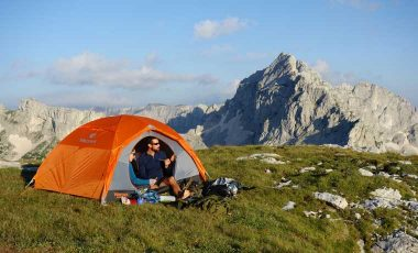 Mountains and tent