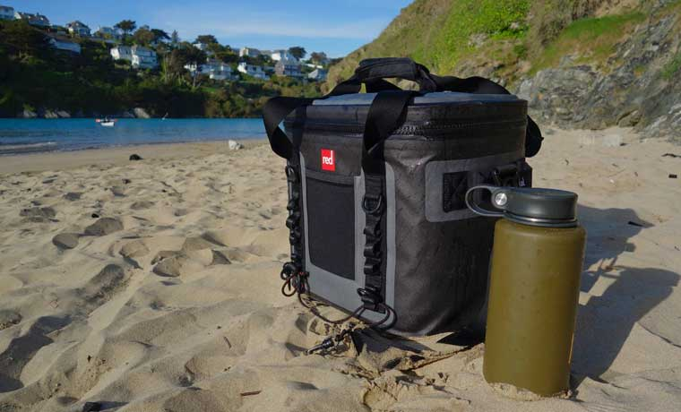 Red Cooler on beach